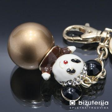 MEDVEDEK PANDA - Modni obesek za ključe OK-142