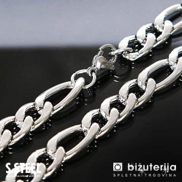 CHALLENGER Srebrna moška verižica iz nerjavečega jekla 10 x 500 mm O-104