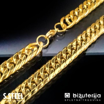 SUNSHINE Zlata moška verižica iz kirurškega jekla 12 x 600 mm O-110