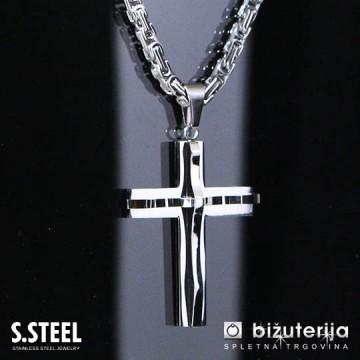 3D KRIŽ Moška verižica križ z obeskom 500 x 60 x 45 mm O-254