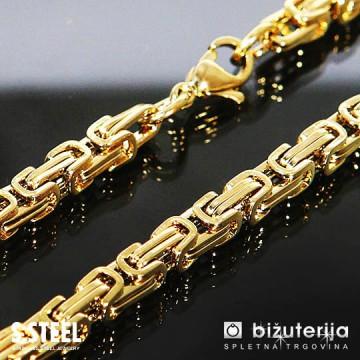 MIRAGE LONG Dolga zlata moška verižica kraljevi vez iz kirurškega jekla 5 x 700 mm O-605b
